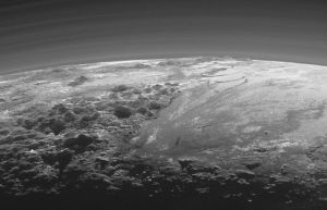 Extreme detail of Pluto, from New Horizons.