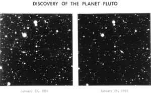 Discovery photos of Pluto.