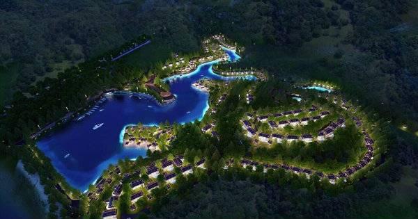 Tổng quan Biệt thự Hồ Dụ Resort (ảnh phối cảnh)