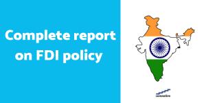 FDI policy of India