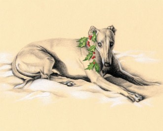 Essie - greyhound holiday art