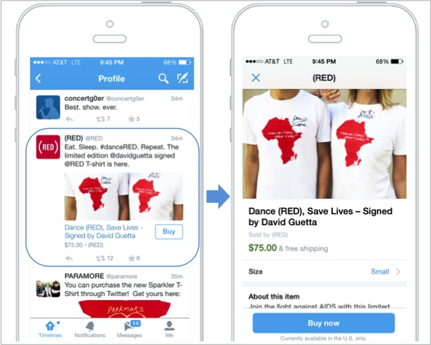 Twitter Buy Button Goes Live
