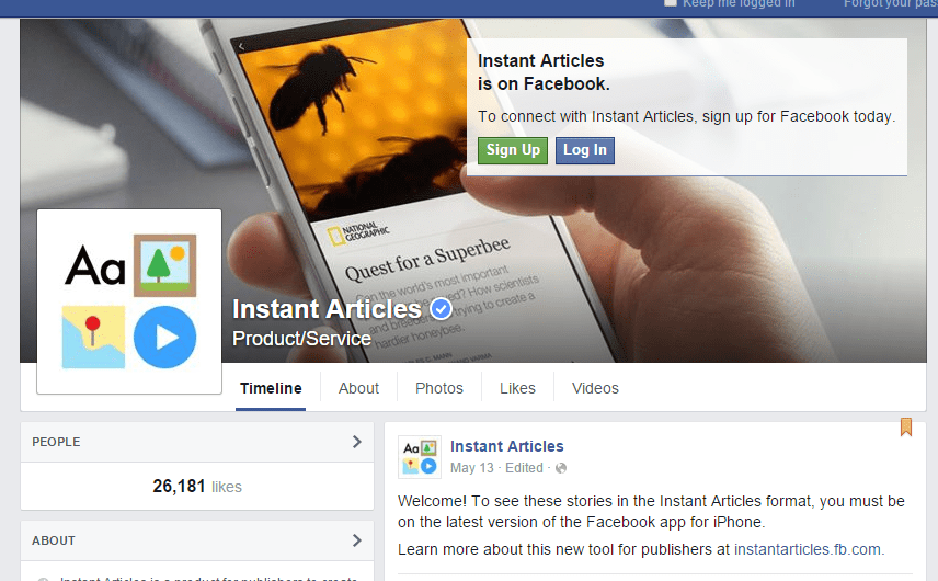 How to use Facebook Instant Articles for Business