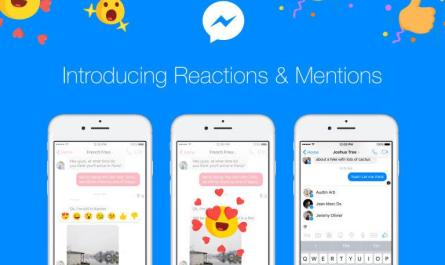 Facebook Messenger Message Reactions and Mentions