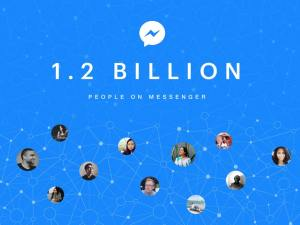 Facebook Messenger 1.2 billion monthly active users announcement