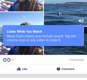 Facebook News Feed video sound