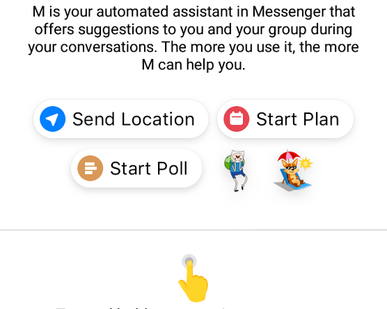 Facebook Messenger M AI virtual assistant