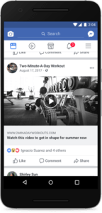 Facebook News Feed video clickbait example