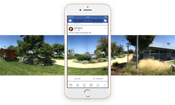 Facebook in-app 360 photos