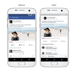 facebook link preview new back button
