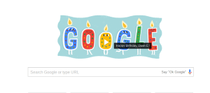 Google birthday greeting