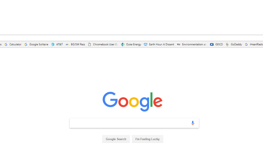New Google Homepage Links Appear Suddenly