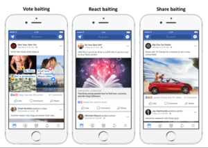 Facebook engagement bait examples