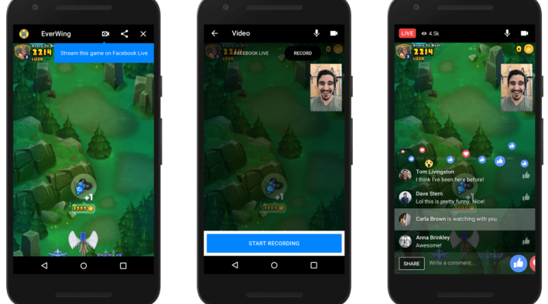 facebook messenger instant games live streaming