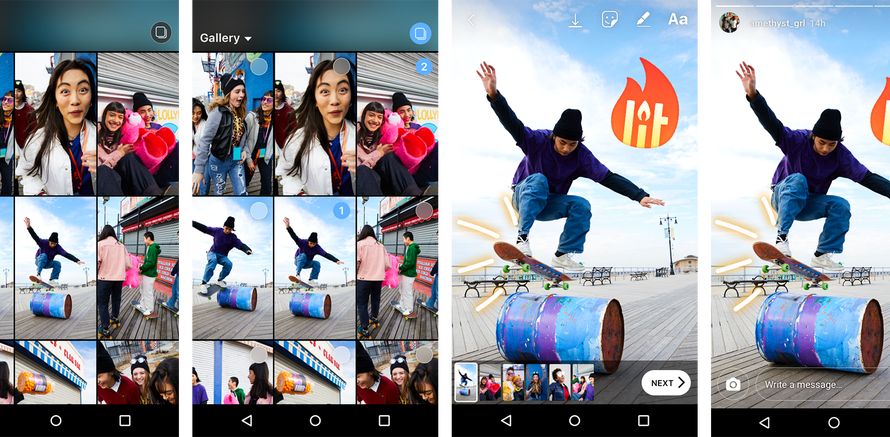 Instagram Users can Now Simultaneously Share Multiple Pics and Videos in Stories