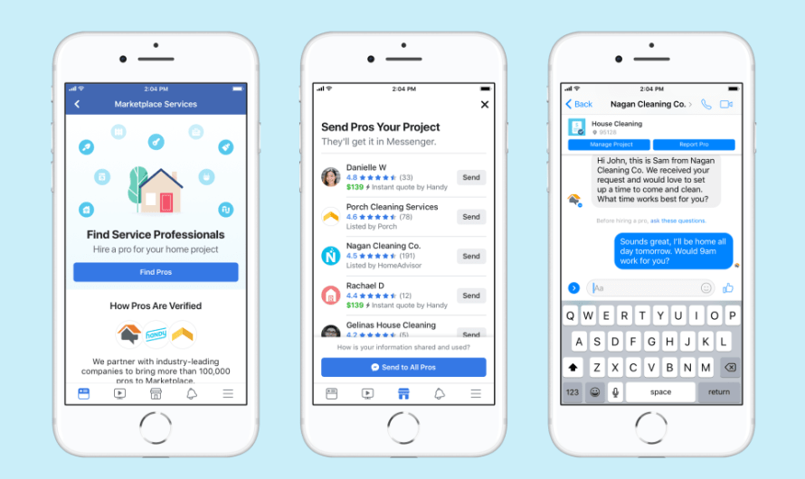 People can Now Hire Plumbers, Cleaners, and Contractors in Facebook Marketplace
