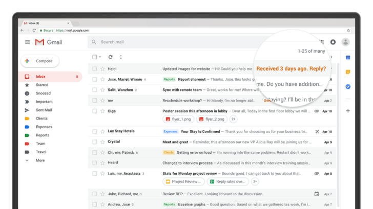 """Gmail begins to """"Nudge"""" Users"""