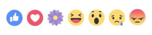 Facebook Mother's Day temporary reaction