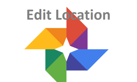Google Photos edit location