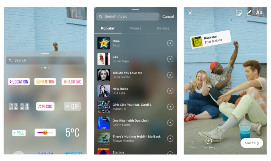 Instagram Users can Now Add Music to their Stories