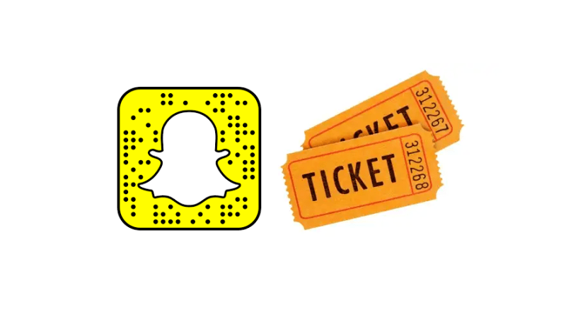 Snapchat app ticket-buying