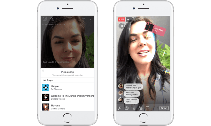 Facebook Now Wants Its Users to Live-Stream Lip Syncing to Songs