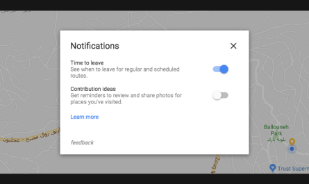 Google Maps desktop appointment notifications