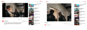 YouTube web player adaptive video aspect ratio screenshot