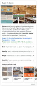expanded Google featured snippets quartz vs granite example