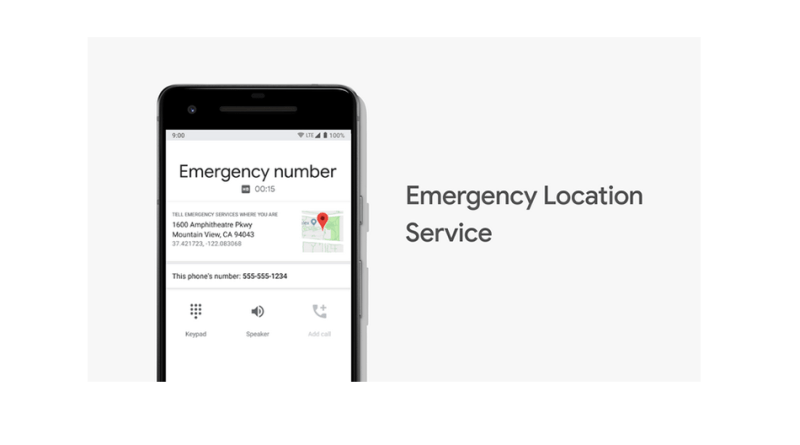 Android Emergency Location Services