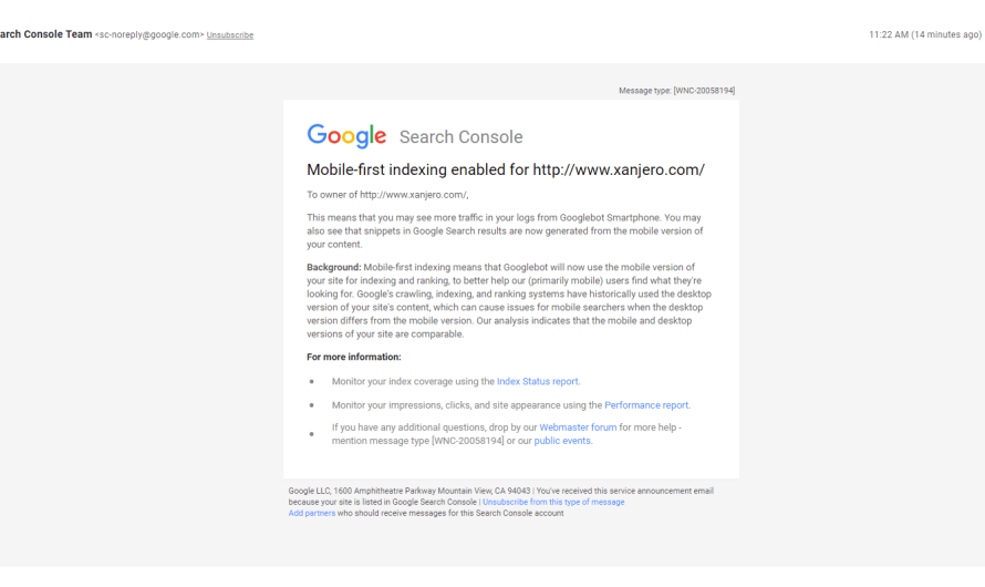 Google is Now Notifying more Webmasters of Mobile-First Index Inclusion