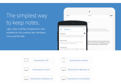 WordPress Simplenote app