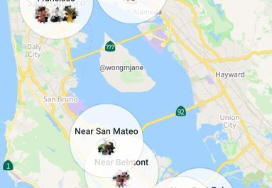 Facebook Nearby Friends Map