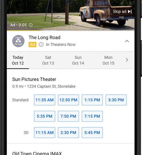 YouTube Viewers can Now Buy Movie Tickets or Book a Trip while Watching Ads