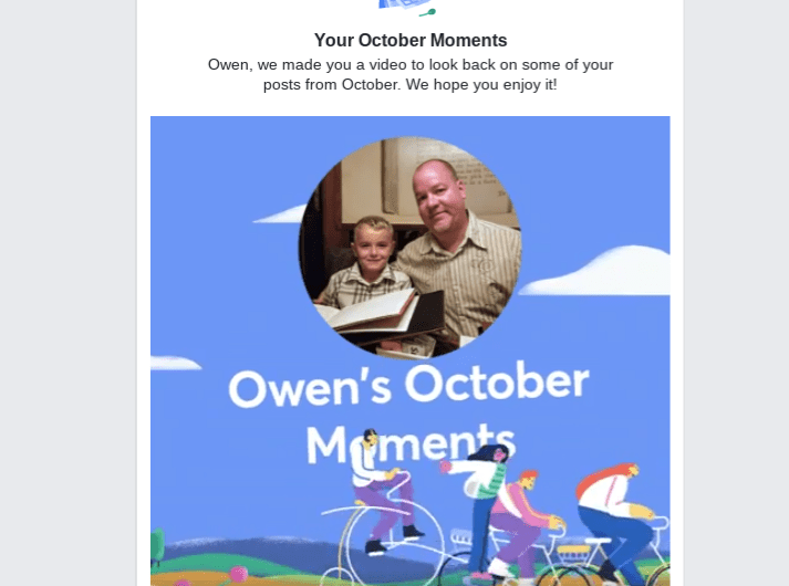 2018 Facebook October Moments Video Rolls Out
