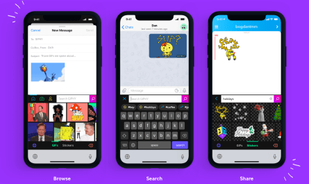 Giphy iOS GIFs keyboard extension