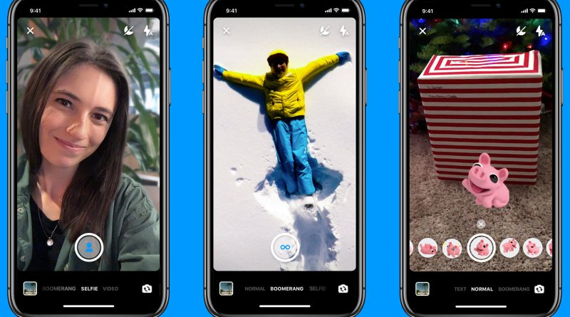 new Facebook Messenger app camera features