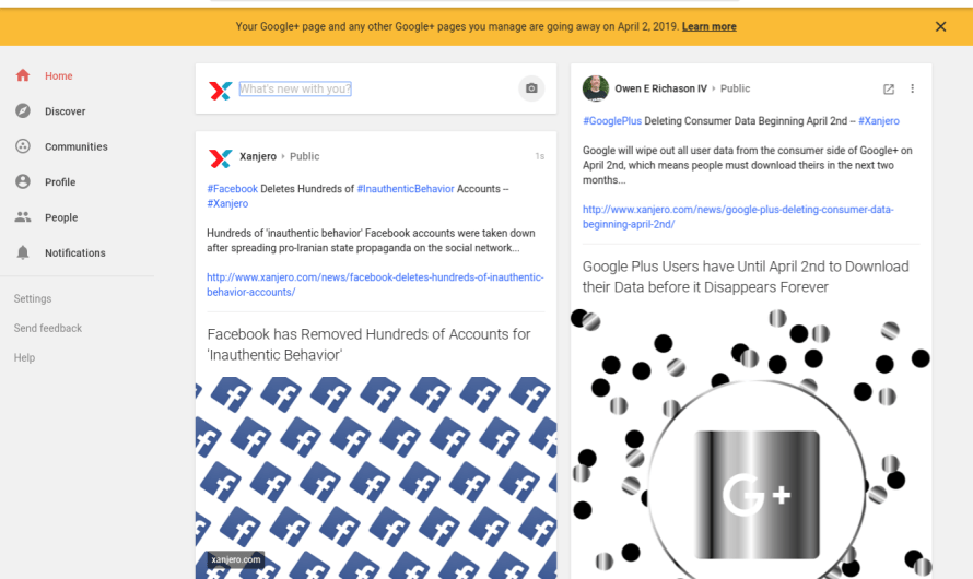 Google Starts Warning Users of Impending Google+ Account Deletion for Profiles and Pages Alike