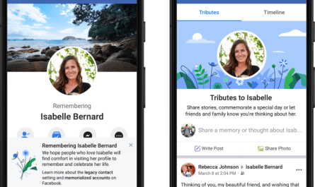 Facebook tributes tab memorialized accounts