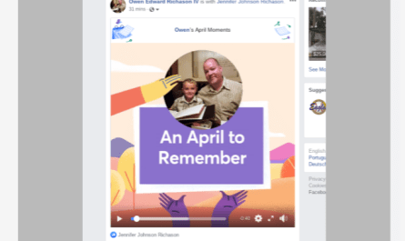 2019 Facebook April Moments video