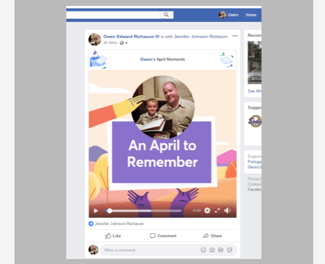 2019 Facebook April Moments Video Rolls Out to Android, iOS, and the Web