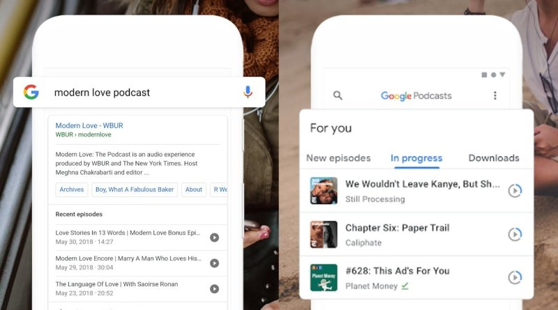 Google Podcasts for iOS and desktop