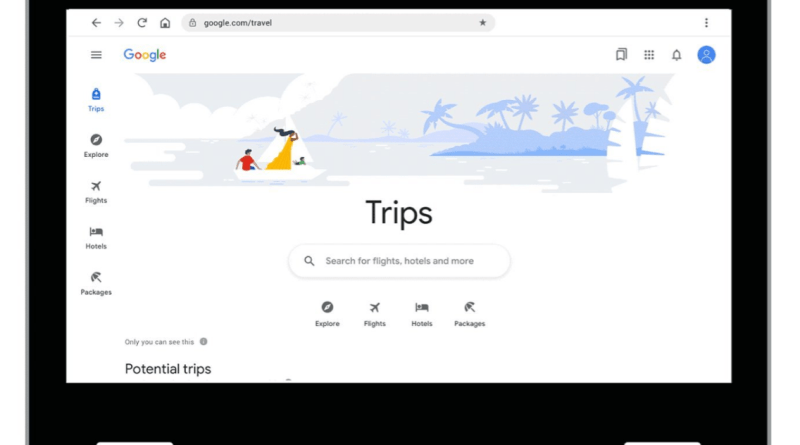 Google Trips desktop travel planner