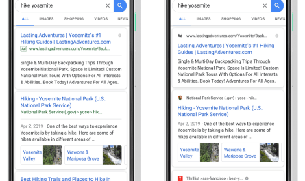 Google mobile search redesign