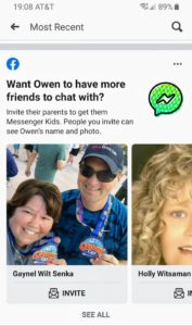 Facebook nudges parents to invite adult friends to join Messenger Kids