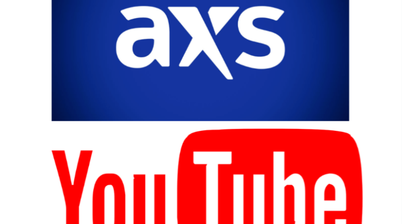 YouTube official artist channel AXS concert tickets