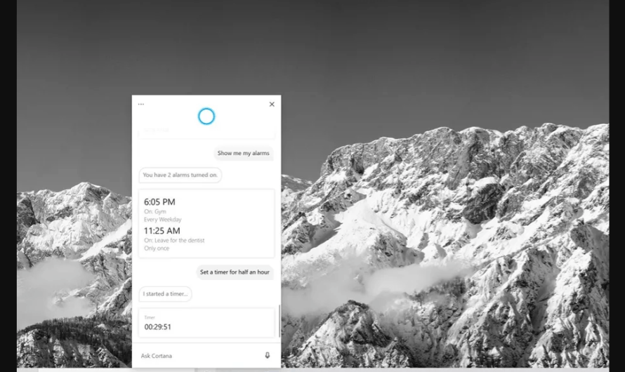 Microsoft Introduces its New Cortana App for Windows 10