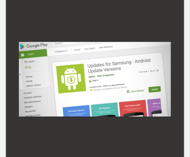 Google Pulls Sham 'Updates for Samsung' App from Its Play Store