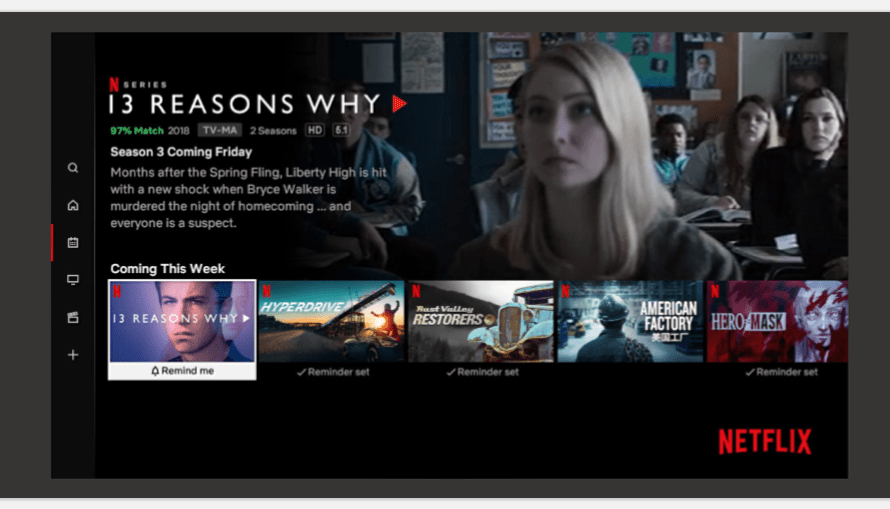 Netflix Viewers can Now Set 'Remind Me' Alerts to Notify them when New Shows Arrive