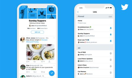 Twitter iOS home timeline lists pins